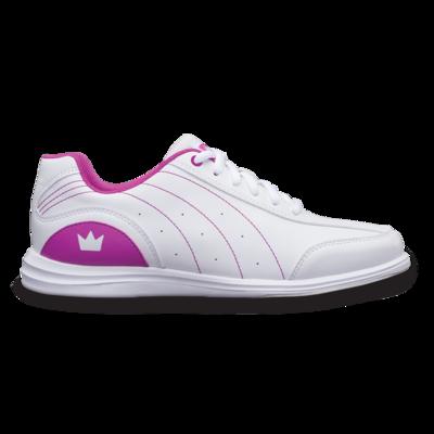 Brunswick Mystic White/Pink Womens Bowling Shoes