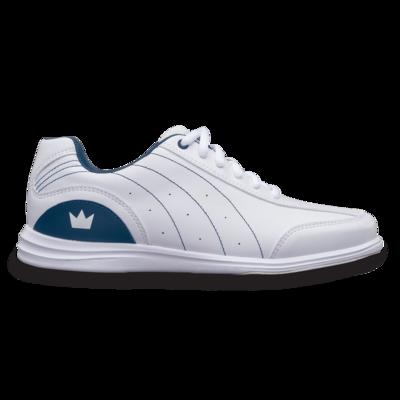 Brunswick Mystic White/Blue Womens Bowling Shoes