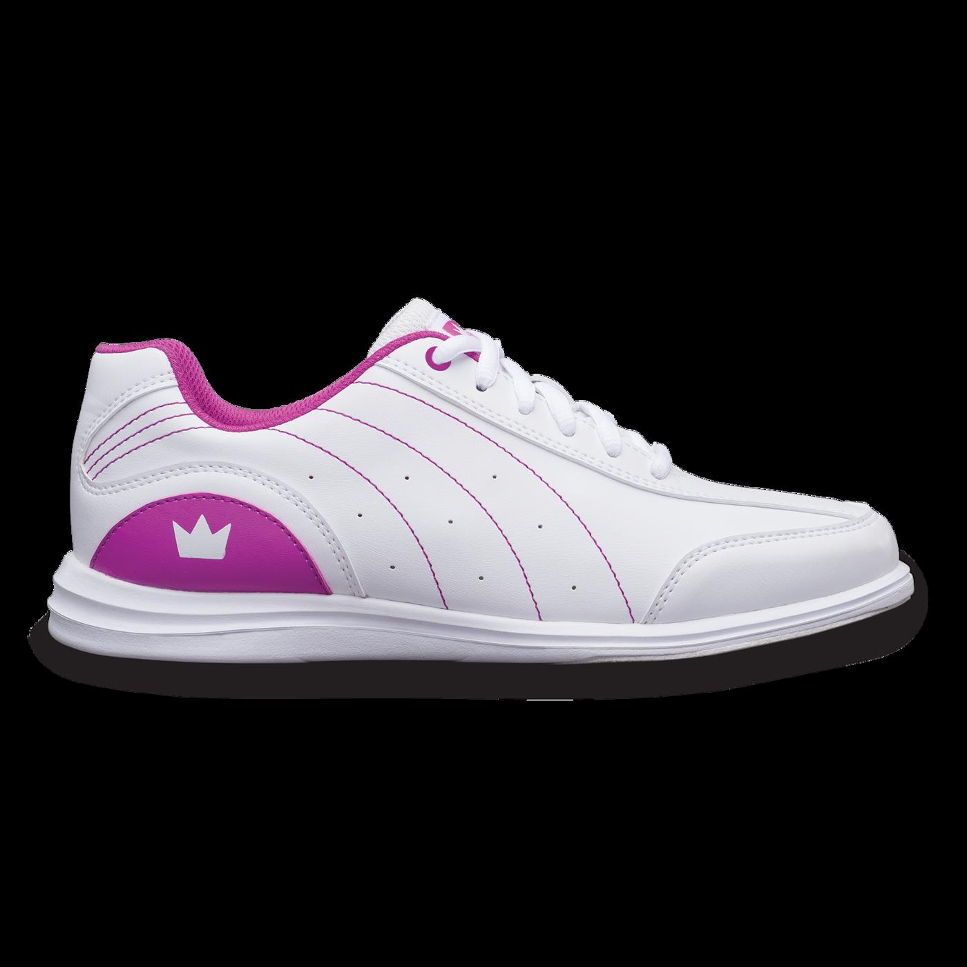 Brunwick Mystic White/Fuchsia Youth Girls Bowling Shoes