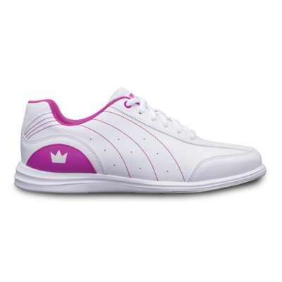 Brunwick Mystic White/Fuchsia Youth Girls Bowling Shoes