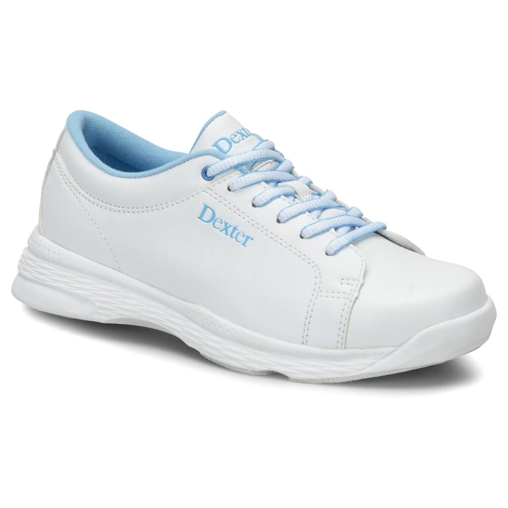 Dexter Raquel V White/Blue Youth Girls Bowling Shoes