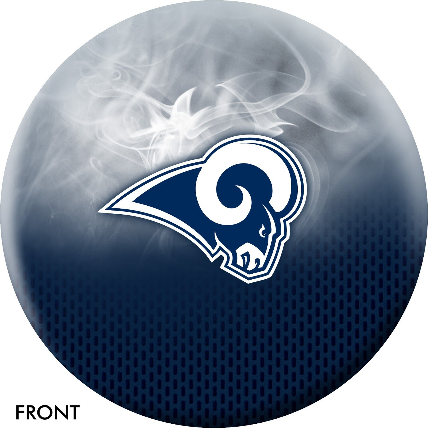 NFL On Fire Los Angeles Rams Bowling Ball