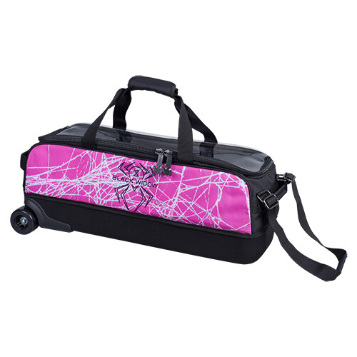 Hammer Pink/Black Widow Dye Sublimated 3 Ball Tote Bowling Bag