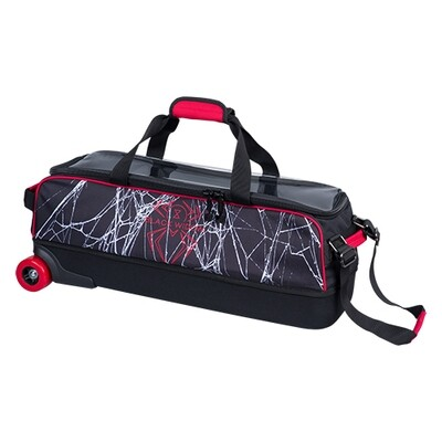 Hammer Black/Red Widow Dye Sublimated 3 Ball Tote Bowling Bag