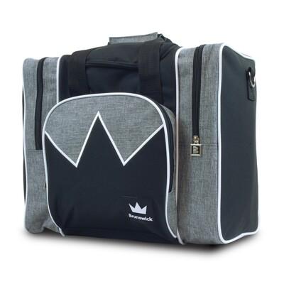 Brunswick Edge Grey/White 1 Ball Bowling Bag