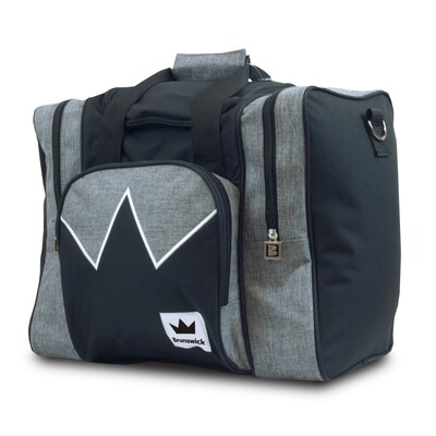 Brunswick Edge Grey/Black 1 Ball Bowling Bag