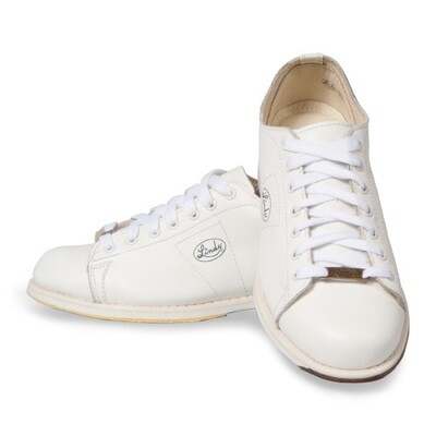 Linds Classic White Mens Right Handed Bowling Shoes