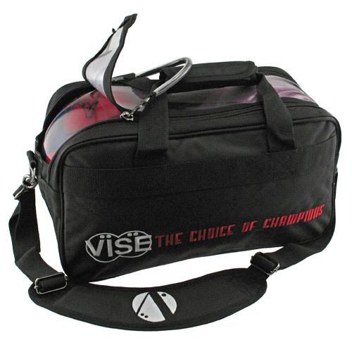 Vise 2 Ball Clear Top Bowling Bag Black