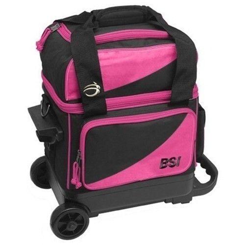 BSI Black/Pink Single Roller Bowling Bag