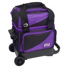 BSI Black/Purple Single Roller Bowling Bag