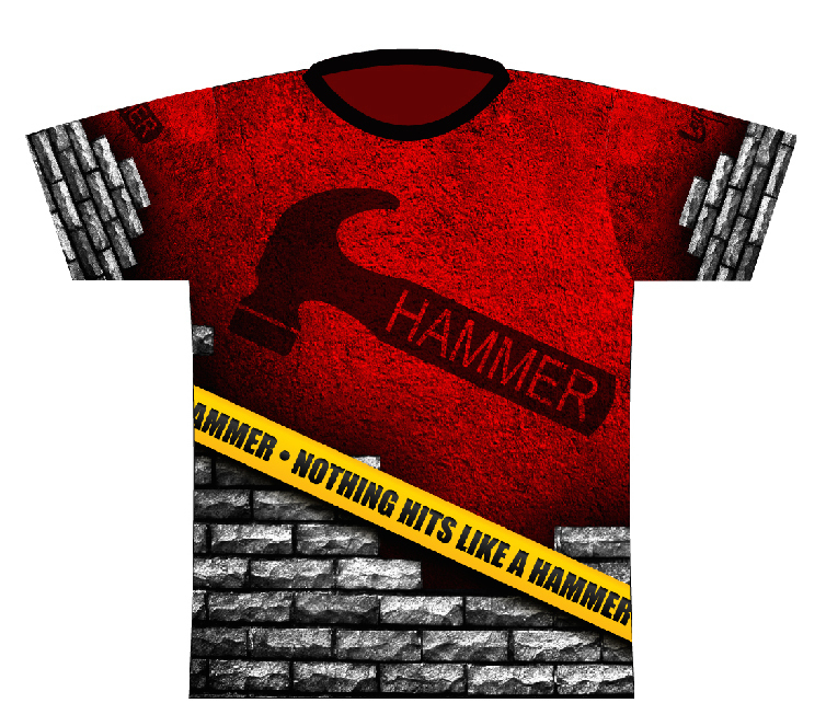 Hammer Caution Tape Dye-Sub Bowling Shirt Jersey