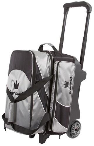 Brunswick Edge 2 Ball Roller Black/Silver Bowling Bag