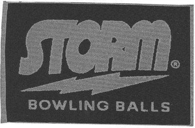 Storm Silver/Navy Woven Bowling Towel