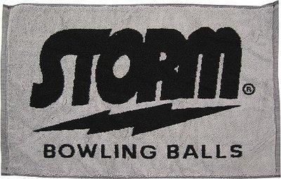 Storm Black/Grey Woven Bowling Towel