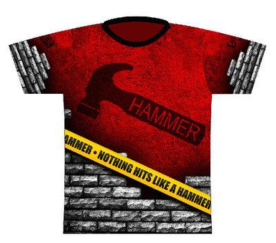Hammer Caution Tape Dye-Sub Bowling Shirt Jersey