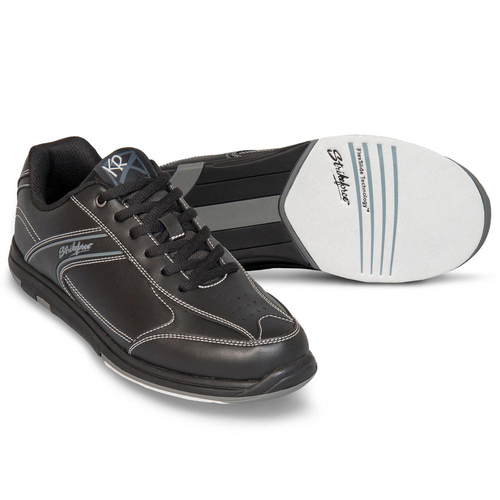 KR Strikeforce Flyer Black Wide Width Mens Bowling Shoes
