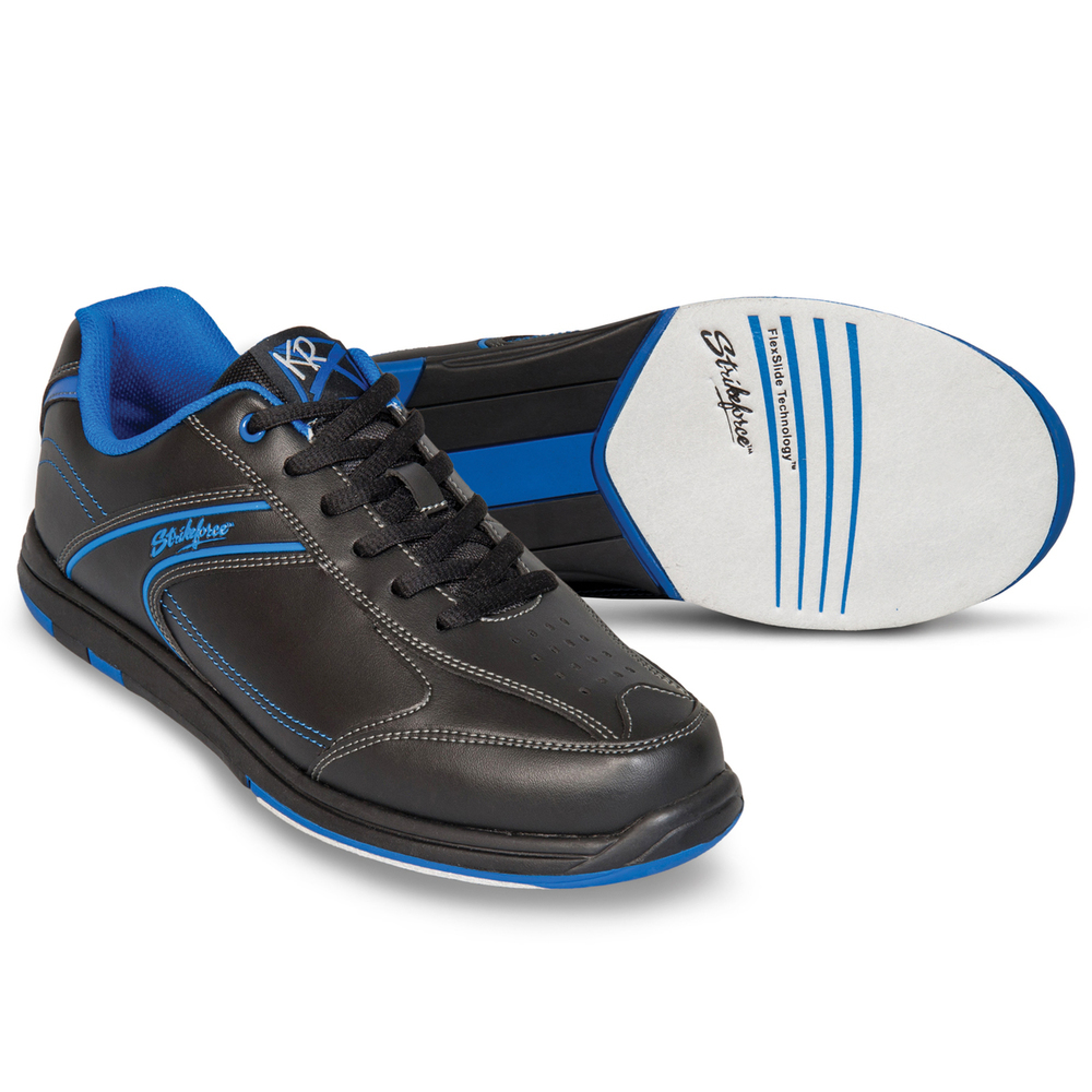 KR Strikeforce Flyer Black/Blue Wide Width Mens Bowling Shoes