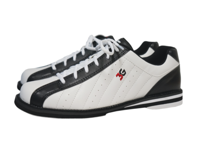 3G Kicks Black/White Mens Bowling Shoes