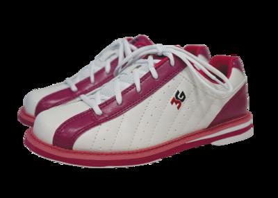 3G Kicks Pink/White Womens Bowling Shoes