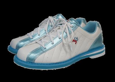 3G Kicks White/Blue Womens Bowling Shoes