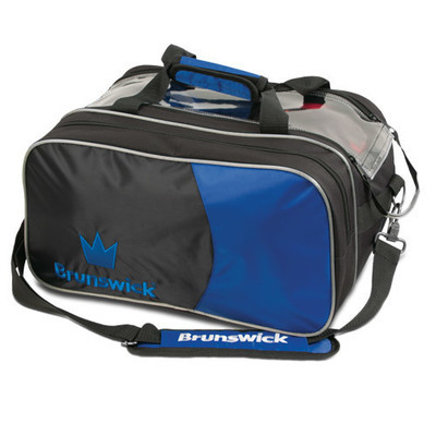 Brunswick Crown Deluxe Black/Blue 2 Ball Bowling Bag