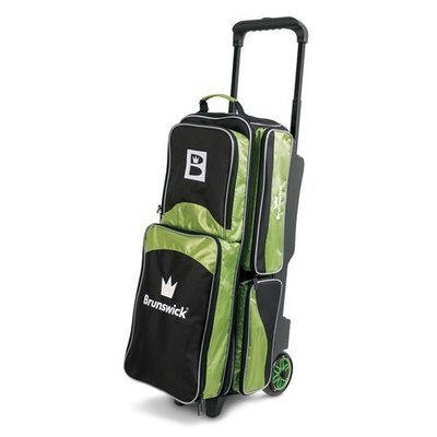 Brunswick Edge 3 Ball Roller Black/Lime Bowling Bag