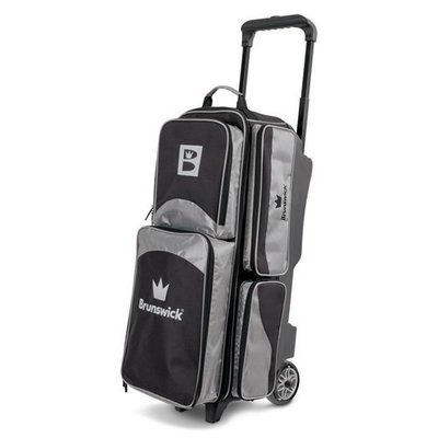 Brunswick Edge 3 Ball Roller Black/Silver Bowling Bag