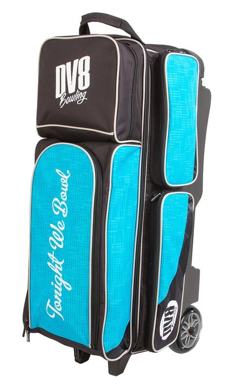 DV8 Circuit Black/Teal 3 Ball Roller Bowling Bag