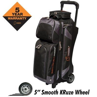 Hammer Premium Black/Carbon 3 Ball Roller Bowling Bag