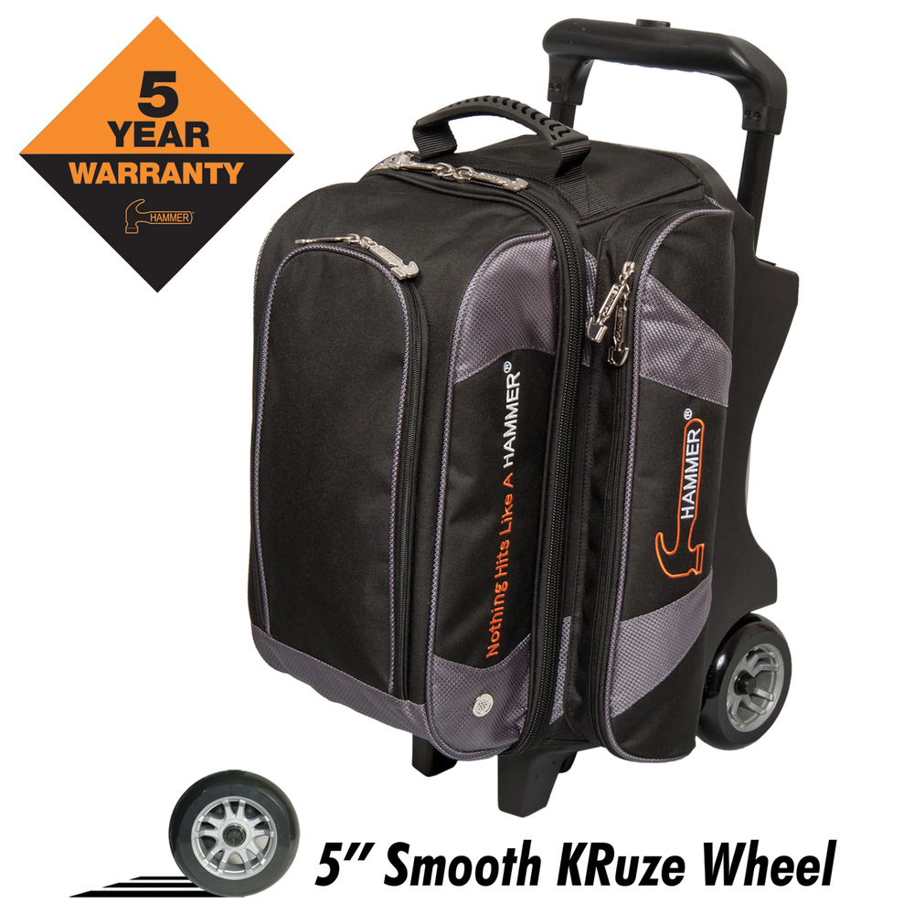 Hammer Premium Black/Carbon 2 Ball Roller Bowling Bag