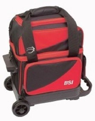 BSI Black/Red Single Roller Bowling Bag
