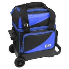 BSI Black/Blue Single Roller Bowling Bag