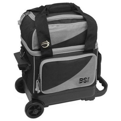 BSI Black/Grey Single Roller Bowling Bag
