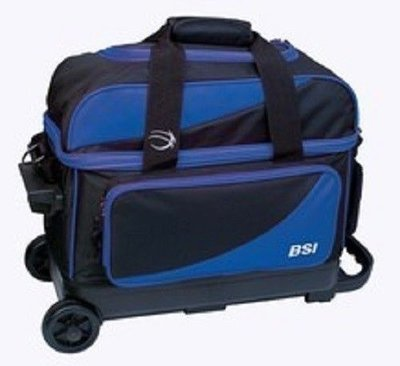 BSI Black/Blue 2 Ball Roller Bowling Bag