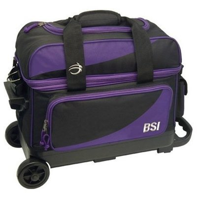 BSI Black/Purple 2 Ball Roller Bowling Bag