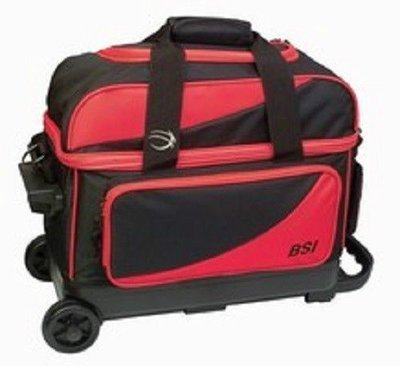 BSI Black/Red 2 Ball Roller Bowling Bag