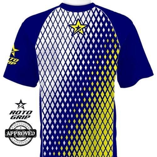 Roto Grip Fade Blue/Yellow Dye-Sub Bowling Shirt Jersey