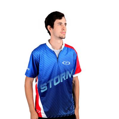 Storm Trigger Blue/Red/White Dye-Sub Bowling Shirt