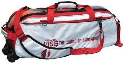 Vise 3 Ball Clear Top Tote Roller White/Red Bowling Bag