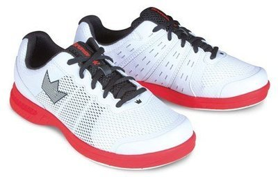 Brunswick Fuze White/Red Mens Bowling Shoes