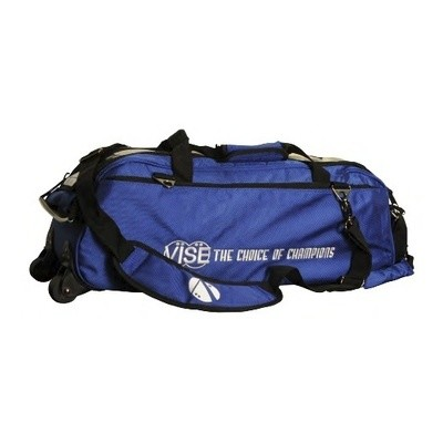 Vise 3 Ball Clear Top Tote Roller Blue Bowling Bag