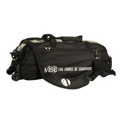Vise 3 Ball Clear Top Tote Roller Black Bowling Bag