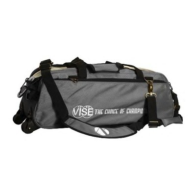 Vise 3 Ball Clear Top Tote Roller Grey Bowling Bag