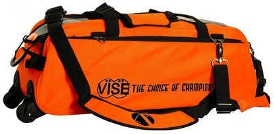 Vise 3 Ball Clear Top Tote Roller Orange Bowling Bag