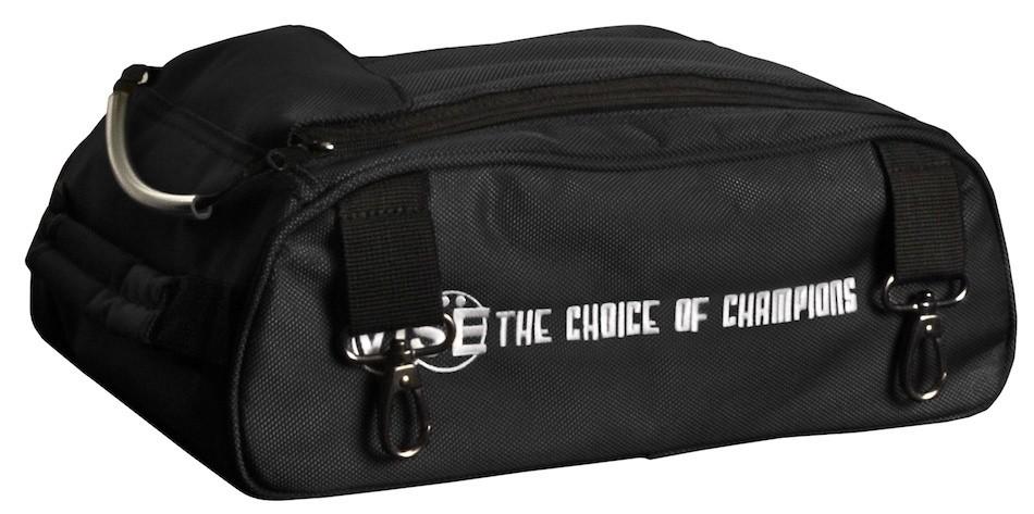 Vise 2 Ball Clear Top Roller Shoe Bag Black