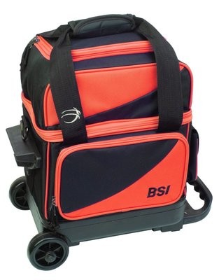 BSI Black/Orange Single Roller Bowling Bag
