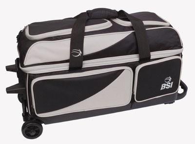 BSI Black/Grey 3 Ball Roller Bowling Bag