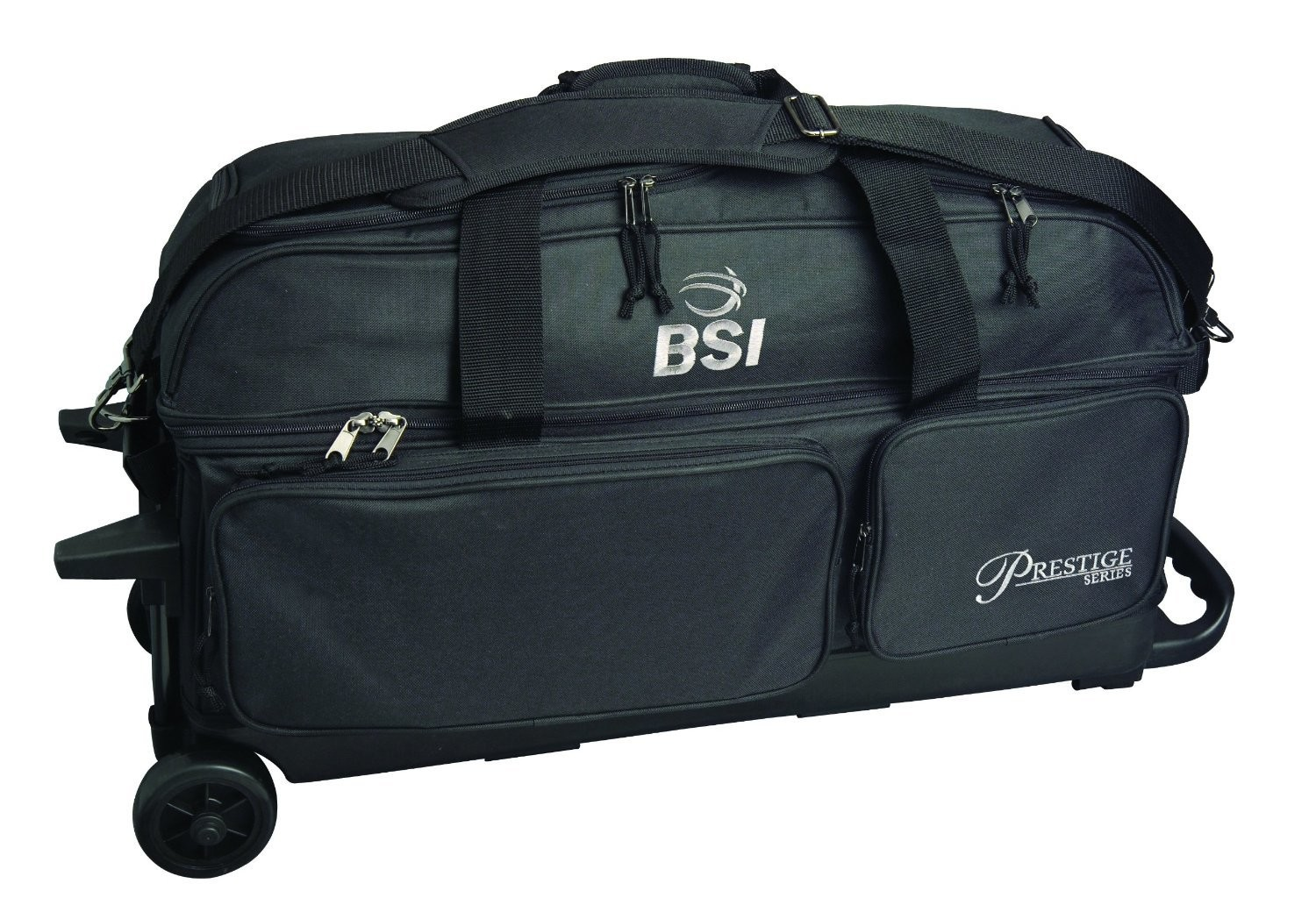 BSI Prestige Series Black 3 Ball Roller Bowling Bag