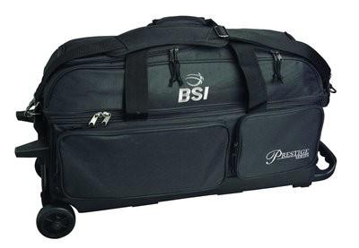 BSI Prestige Series Black 3 Ball Roller Bowling Bag