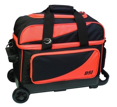 BSI Black/Orange 2 Ball Roller Bowling Bag